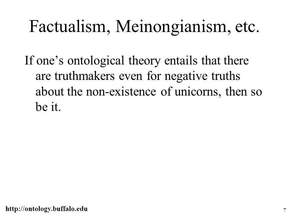 http://ontology.buffalo.edu 48 Logically basic judgments F(a) R(a,b) S(a,b,c)...