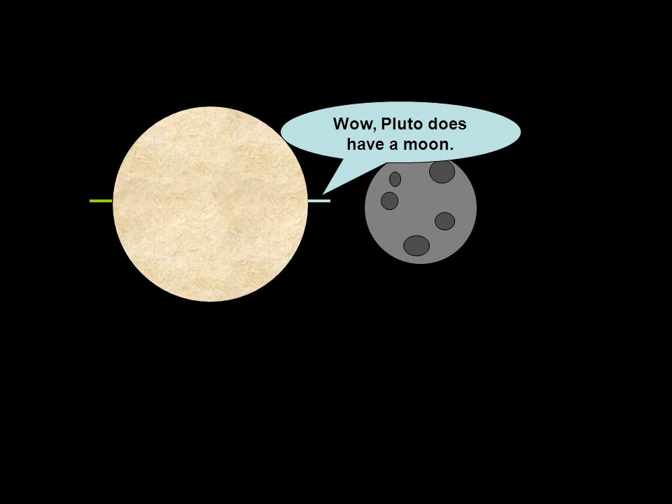 Wow, Pluto does have a moon.