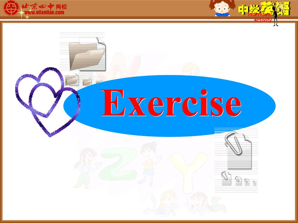 Exercise Individual activity
