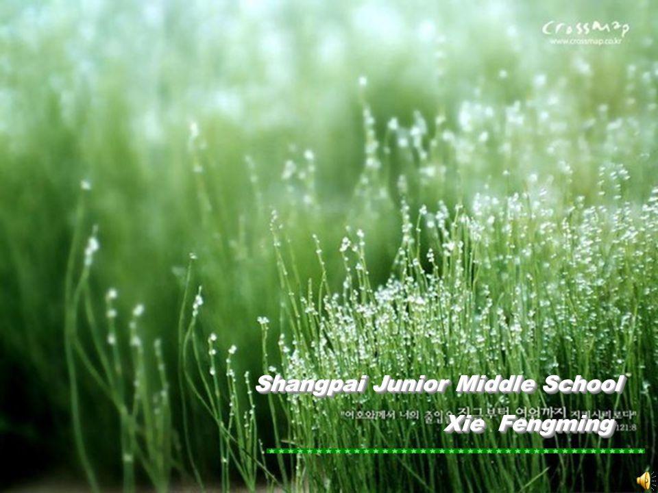 Shangpai Junior Middle School Shangpai Junior Middle School Xie Fengming Xie Fengming Shangpai Junior Middle School Shangpai Junior Middle School Xie