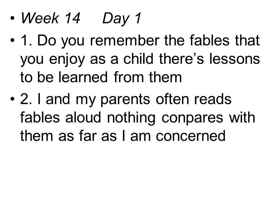 Week 14 Day 1 1.