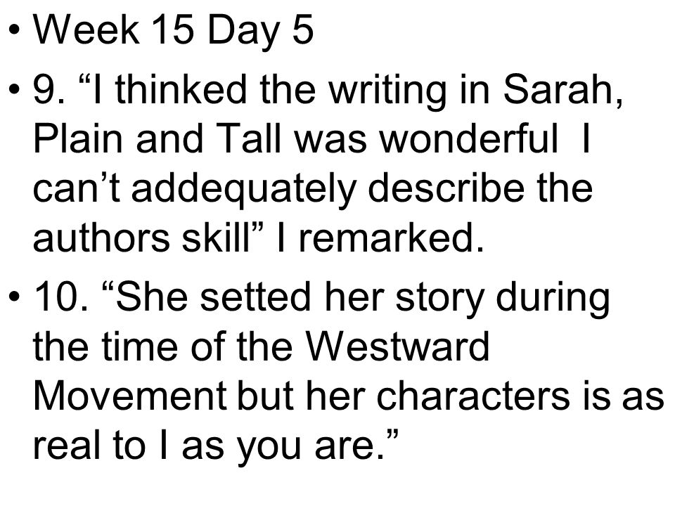 Week 15 Day 5 9.