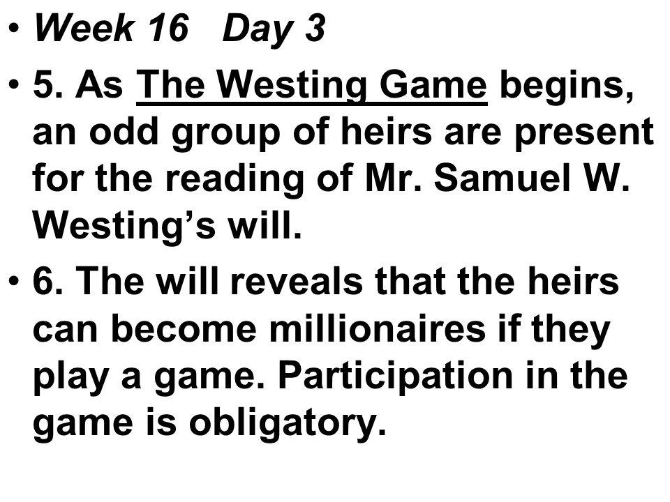Week 16 Day 3 5.