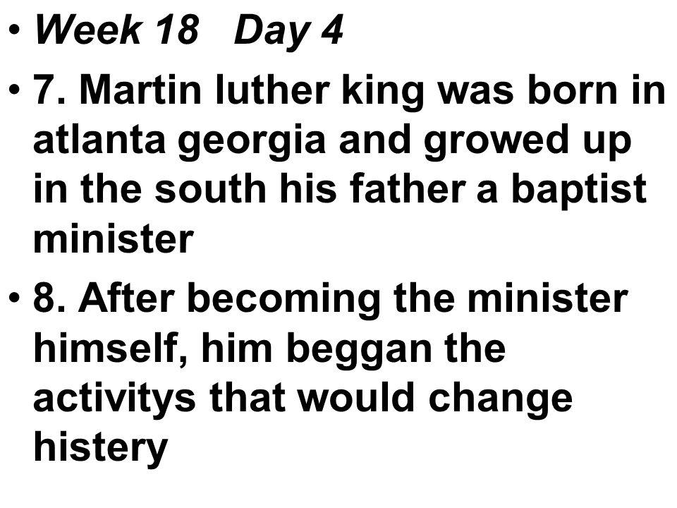 Week 18 Day 4 7.
