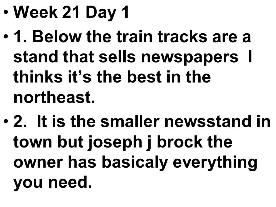 Week 21 Day 1 1.