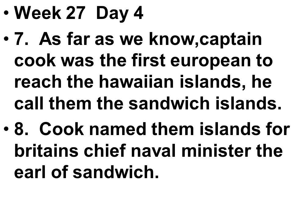 Week 27 Day 4 7.