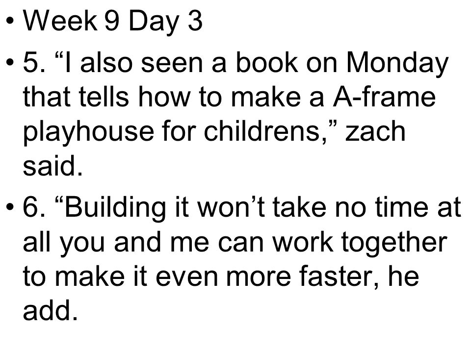 Week 9 Day 3 5.