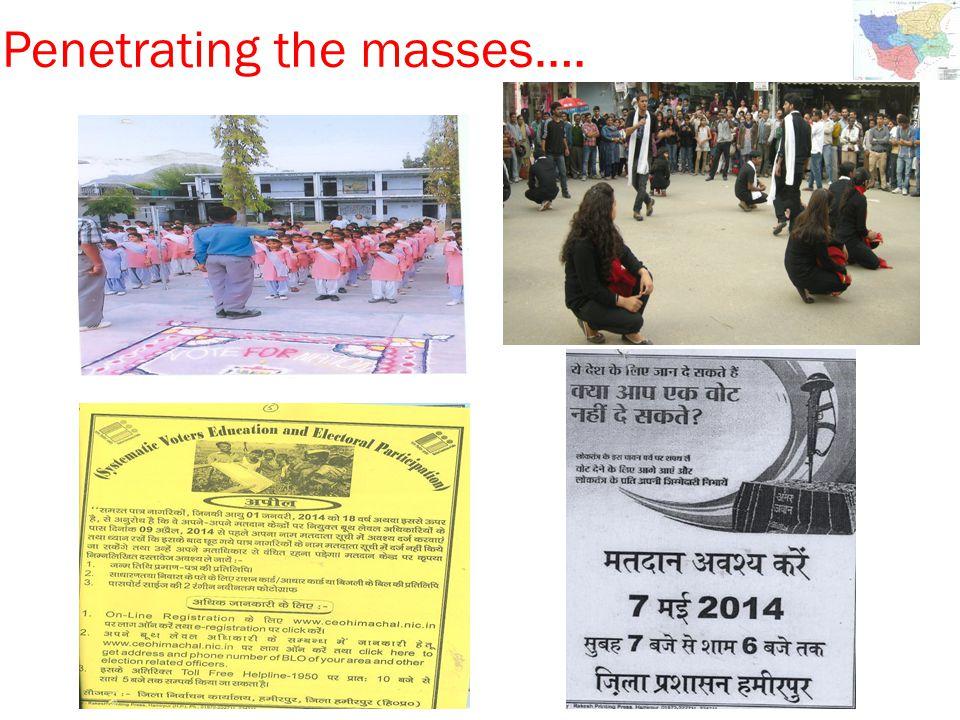 Penetrating the masses….