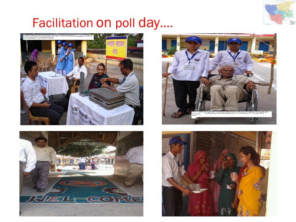 Facilitation on poll day ….