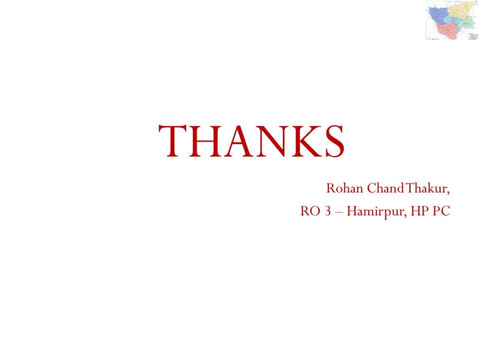 THANKS Rohan Chand Thakur, RO 3 – Hamirpur, HP PC