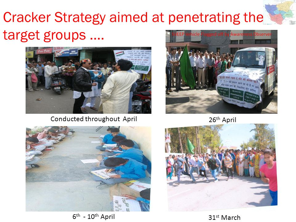 Cracker Strategy aimed at penetrating the target groups ….