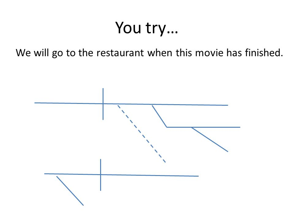 You try… We will go to the restaurant when this movie has finished.