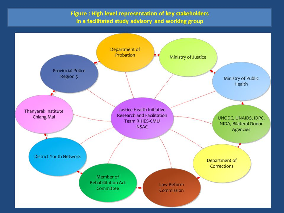 Figure : High level representation of key stakeholders in a facilitated study advisory and working group