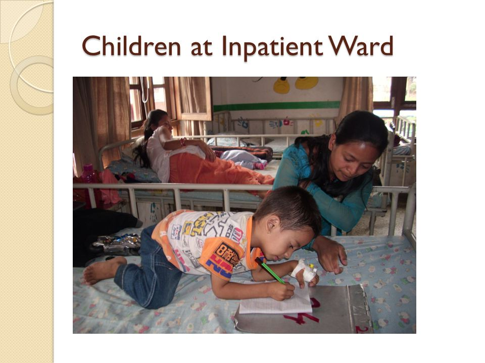 Children at Inpatient Ward
