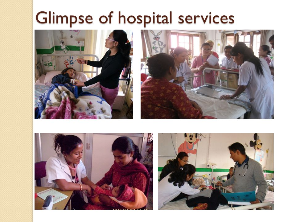 Glimpse of hospital services