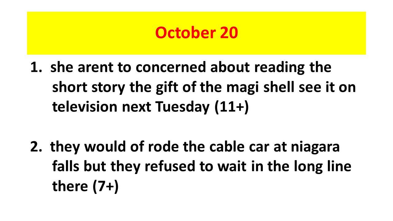 October 20 1.