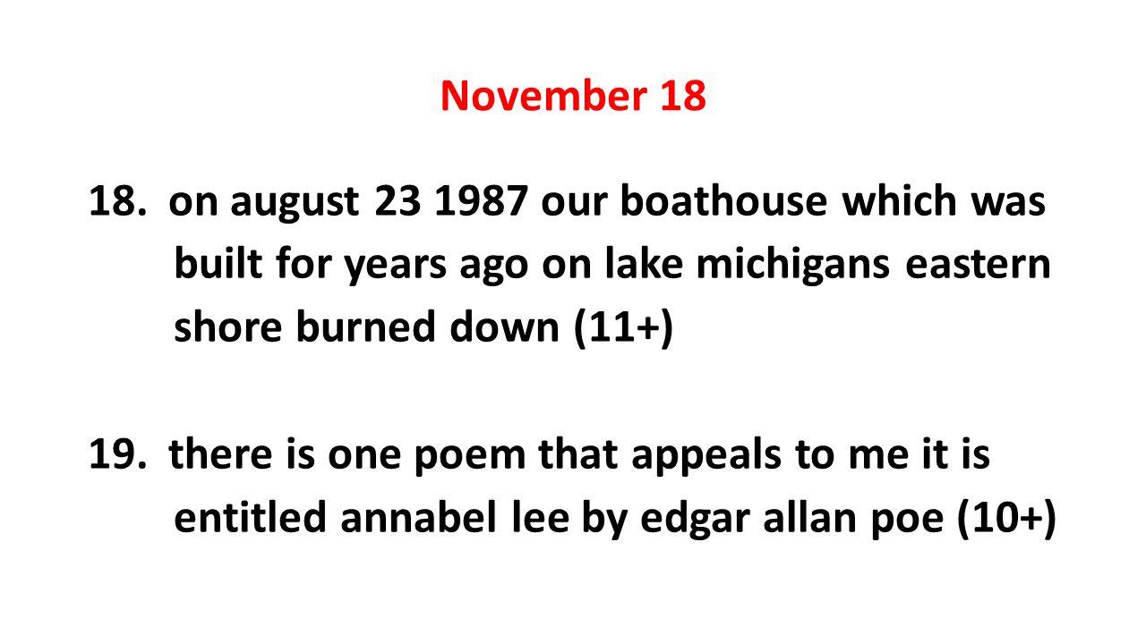 November 18 18.