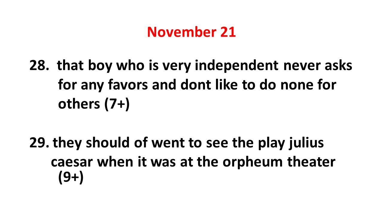 November 21 28.