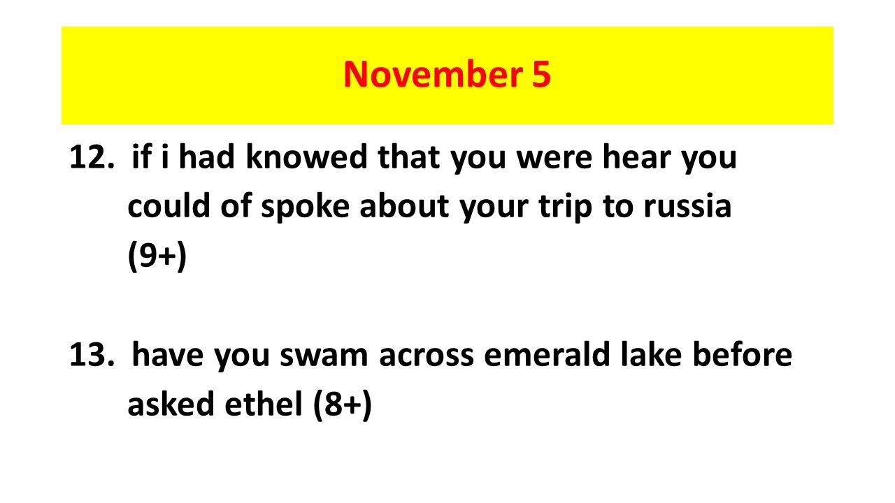 November 5 12.