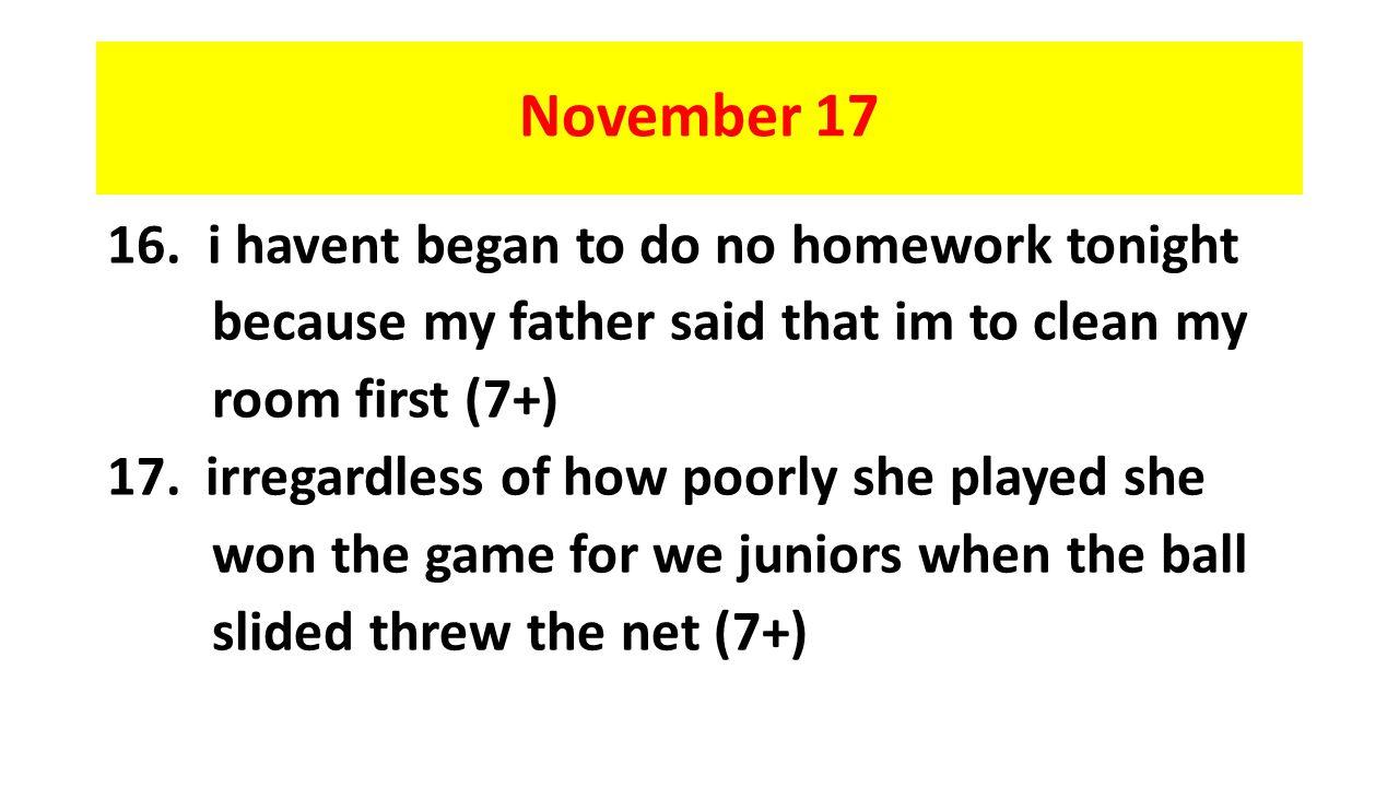 November 17 16.