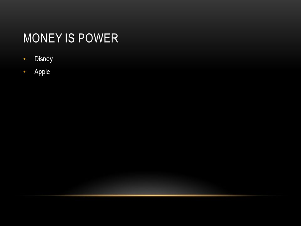 MONEY IS POWER Disney Apple