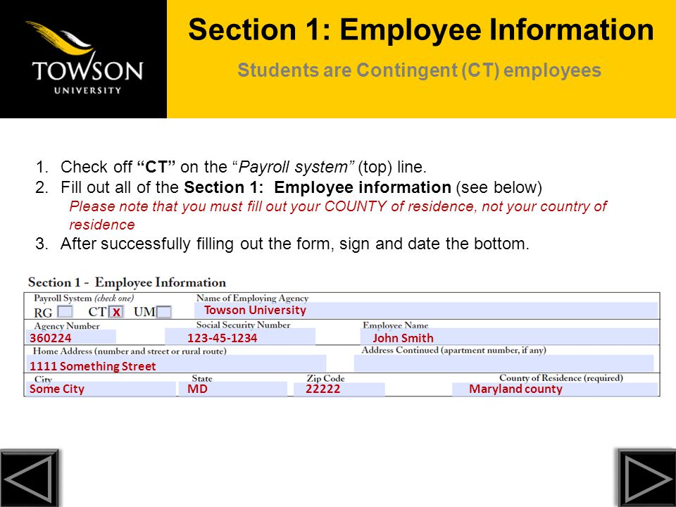 Section 2: Federal Tax In the above example, the employee is single and claiming 1 allowance.