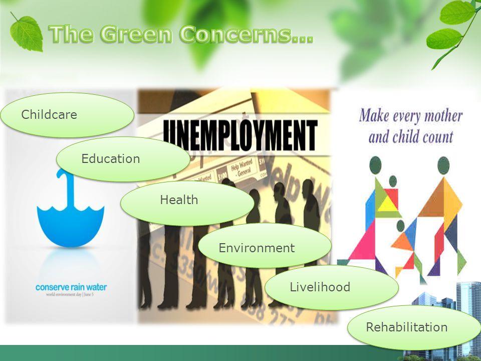 Childcare Education Health Livelihood Environment Rehabilitation