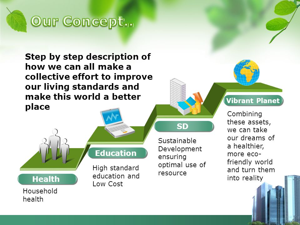 Health Step by step description of how we can all make a collective effort to improve our living standards and make this world a better place Househol