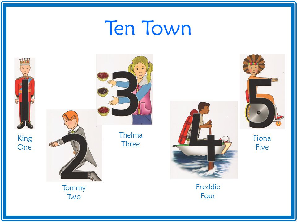 Ten Town King One Tommy Two Thelma Three Freddie Four Fiona Five