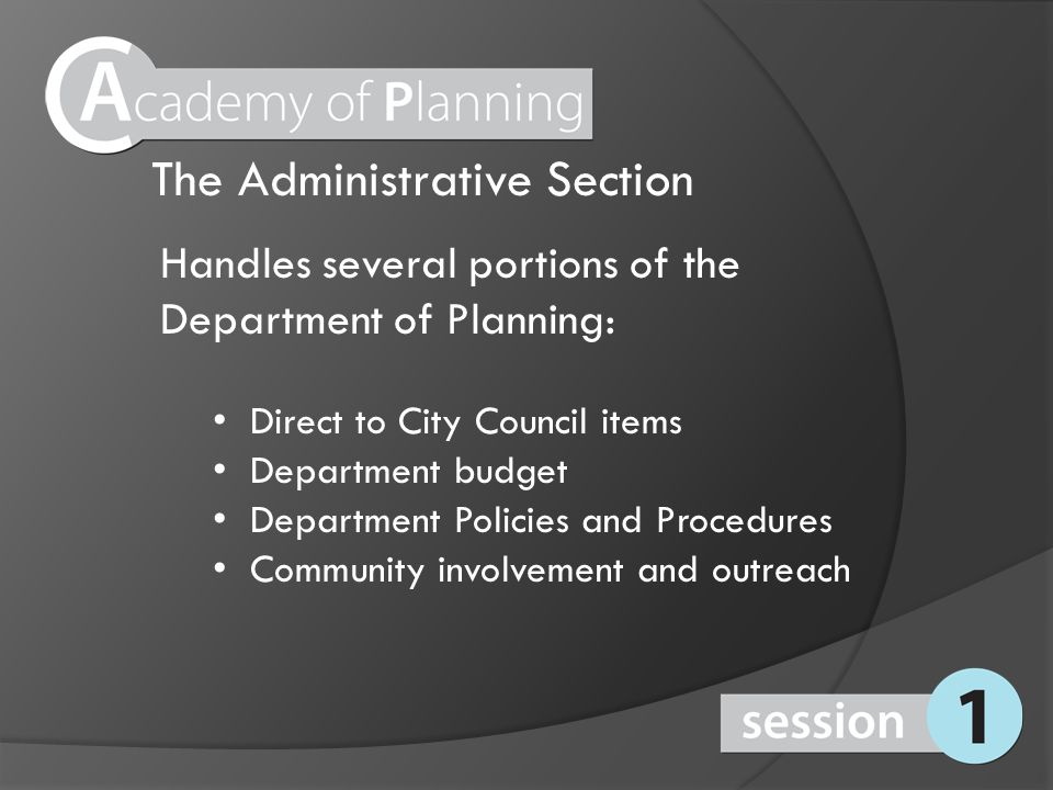 The Case and Public Planning Sections Consists of a manager, supervisors, GIS analyst, multiple planners, and support staff.