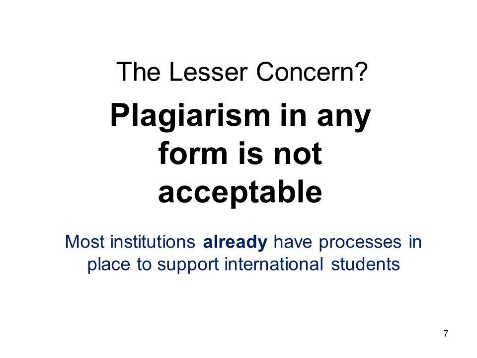 The Lesser Concern.