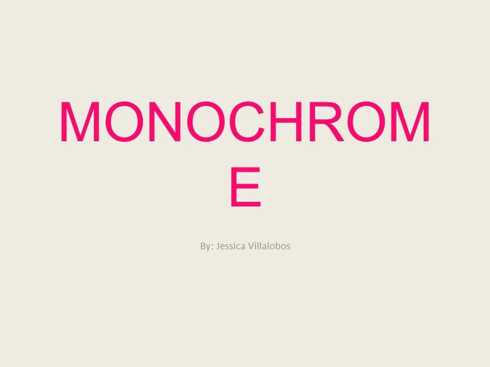 MONOCHROM E By: Jessica Villalobos
