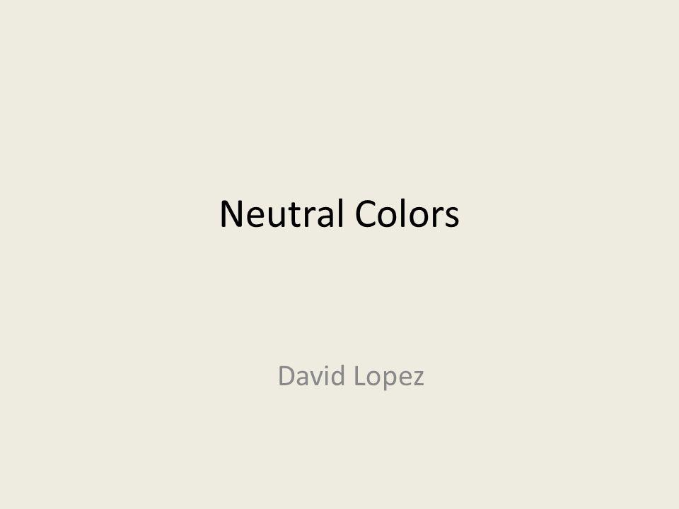 Neutral Colors David Lopez