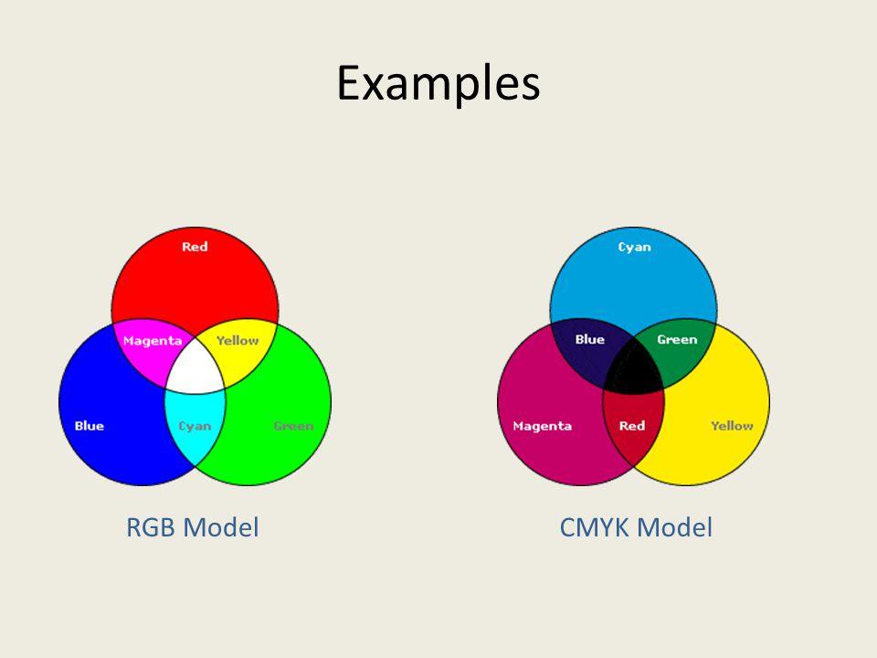 Examples RGB ModelCMYK Model