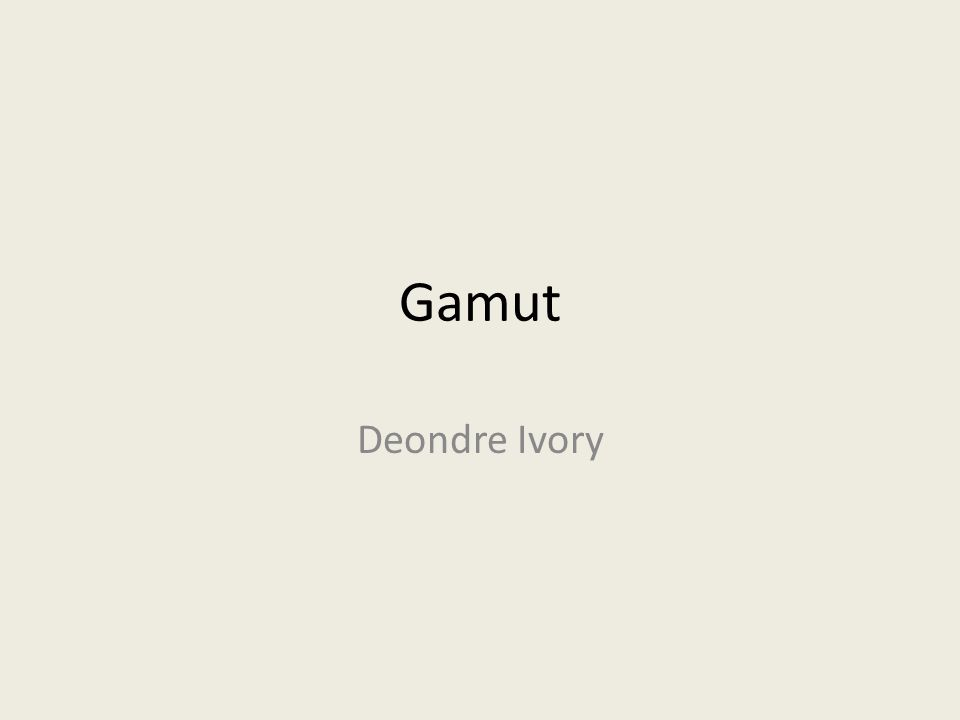 Gamut Deondre Ivory