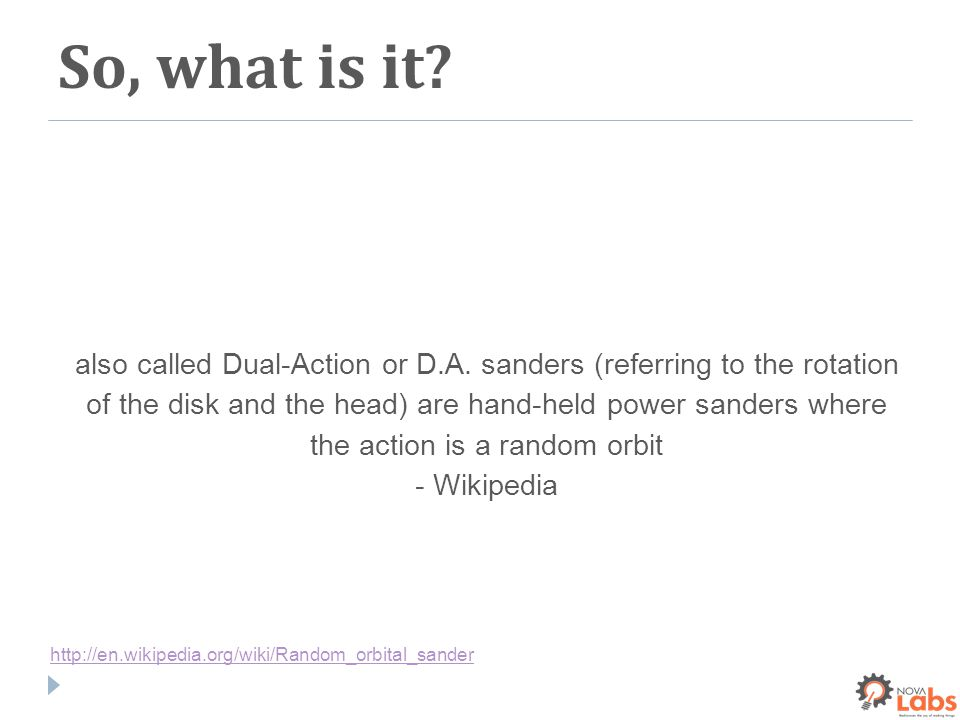 So, what is it. also called Dual-Action or D.A.