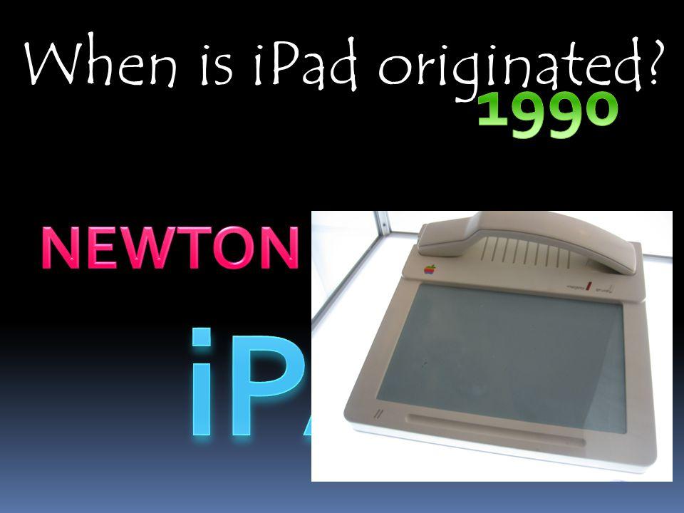 When is iPad originated