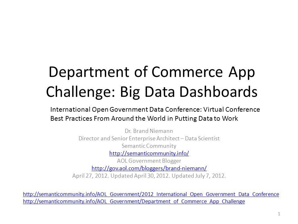 Data.Gov Data Catalog for US Department of Commerce 22 Web Player