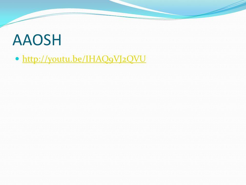 AAOSH http://youtu.be/IHAQ9VJ2QVU