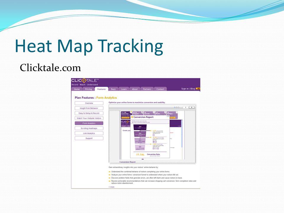 Heat Map Tracking Clicktale.com