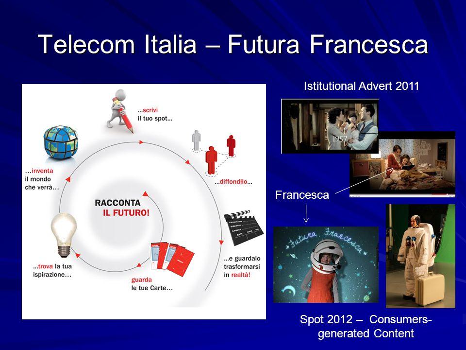 Telecom Italia – Futura Francesca Istitutional Advert 2011 Francesca Spot 2012 – Consumers- generated Content