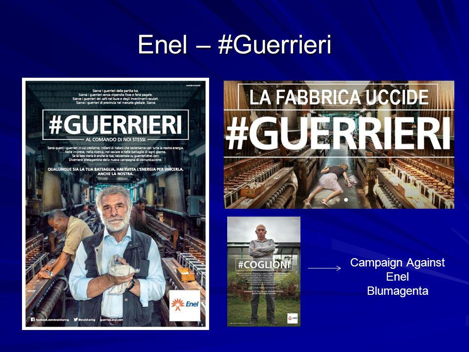 Enel – #Guerrieri Campaign Against Enel Blumagenta