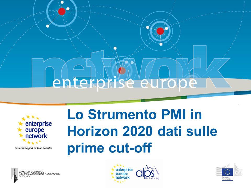 Lo Strumento PMI in Horizon 2020 dati sulle prime cut-off