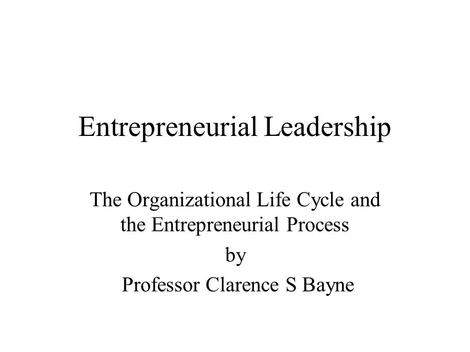 Organizational Change Leaders and Entrepreneurial Action Changes in organizations take place for a number of complex reasons(internal and external to the organization).
