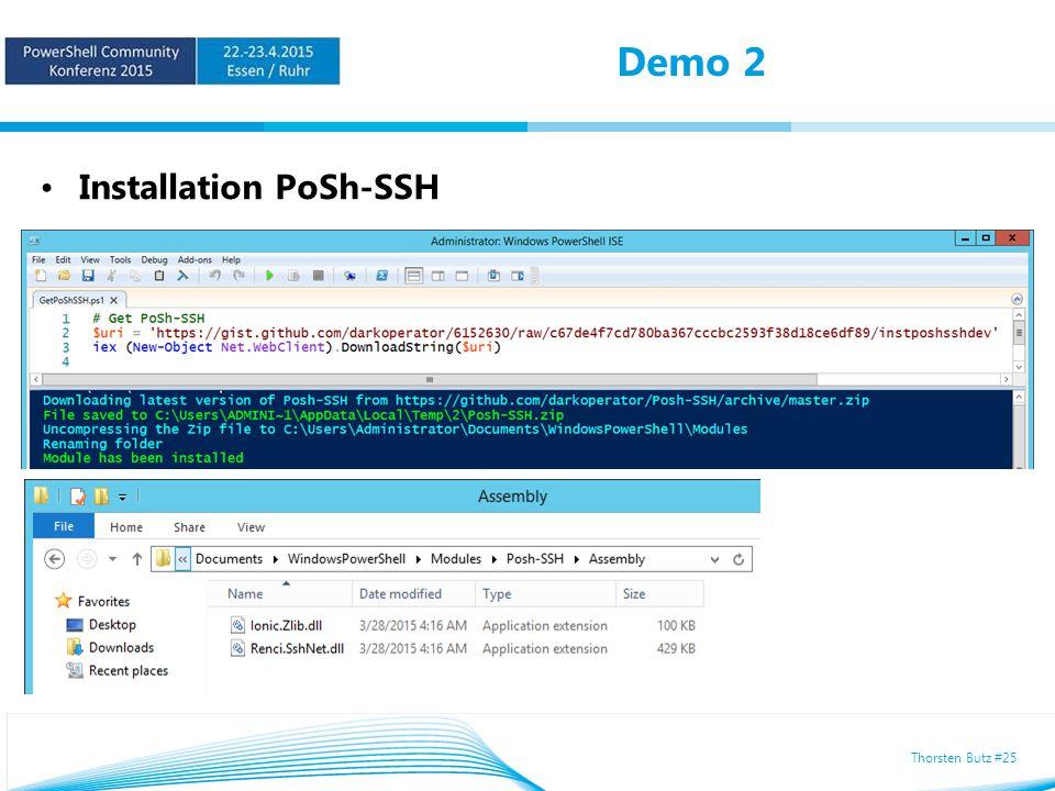 Thorsten Butz #25 Demo 2 Installation PoSh-SSH