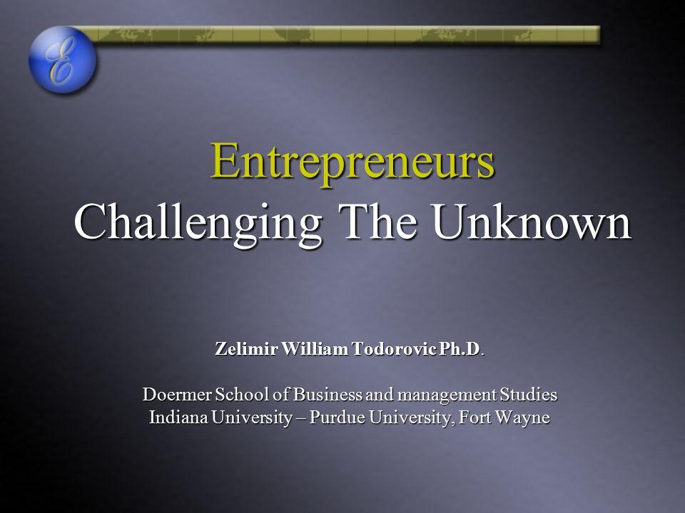 Entrepreneurship - The Introduction 2 Entrepreneur Is it all a Myth