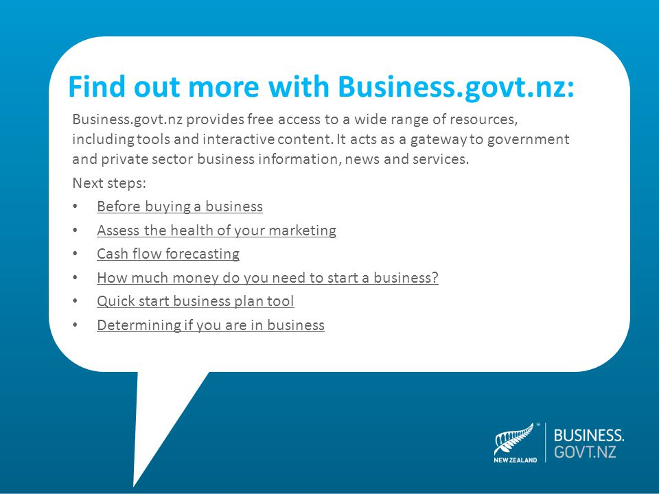 Business.govt.nz provides free access to a wide range of resources, including tools and interactive content. It acts as a gateway to government and pr