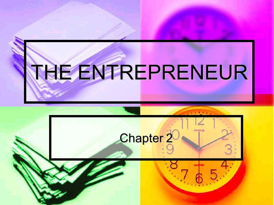 THE ENTREPRENEUR Chapter 2