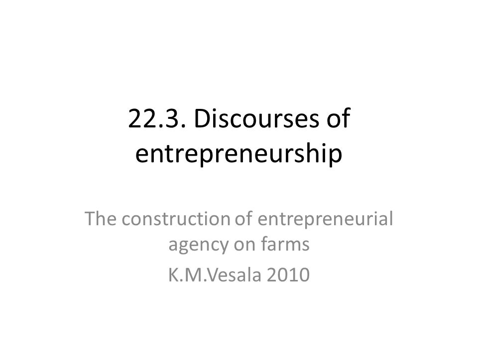 Ogbor 2000, 626-627 To illustrate the import of the preceding discussion we need to look at the experience of ethnic minorities in the world of entrepreneurship.