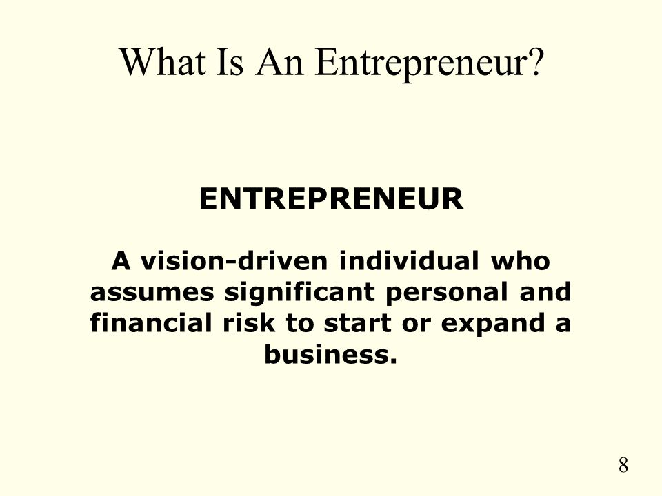 8 What Is An Entrepreneur.